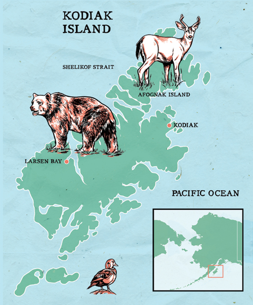 Kodiak Island Alaska Map.Kodiak Island Joel Kimmel